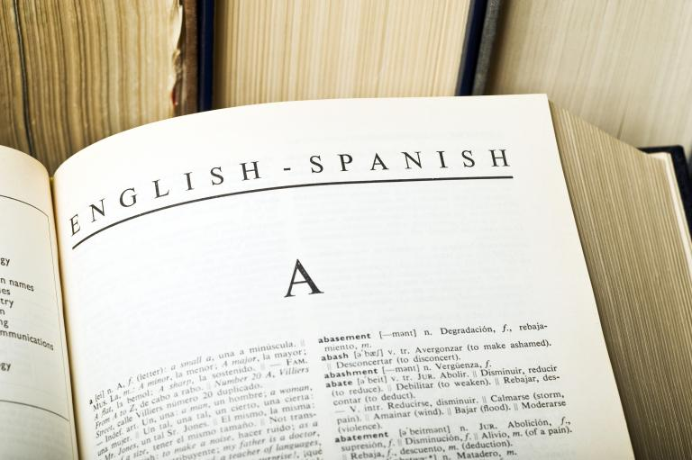 English to Spanish dictionary.