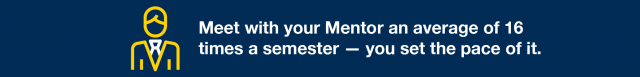 Meet with your Mentor up to 16 times a semester