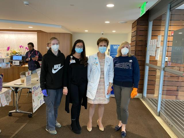 Women in PPE at White Plains Hospital